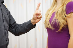Men's Aggression Toward Women. Verbal aggression Royalty Free Stock Photo