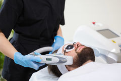 Men`s anti-aging laser therapy Royalty Free Stock Photos