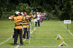 Men's Archery Action Royalty Free Stock Photography