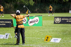 Men's Archery Action Stock Photo