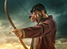 The men's archery target - close Royalty Free Stock Photography