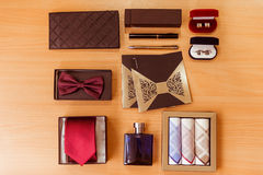 Men's assessories for classical clothes Royalty Free Stock Image