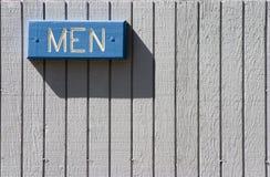 Men?s Badezimmer-Zeichen Stockfotografie