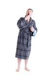 Men's bath robe Stock Photography
