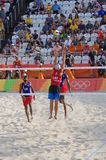 Men's beach volleyball competition in Rio2016 Stock Photo