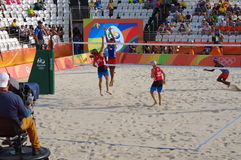 Men's beach volleyball competition in Rio2016 Stock Image