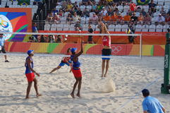 Men's beach volleyball competition in Rio2016 Royalty Free Stock Photography