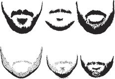 Men's beard silhouettes Stock Image