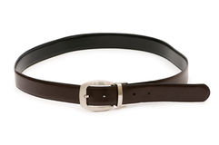 Men's belt isolated. On the white background Stock Photo