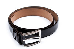 Men's belt. Isolated over white Stock Image