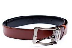 Men's belt. Isolated over white. Stock Image
