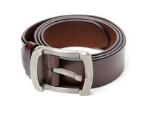 Men`s belt. Isolated over white background stock image