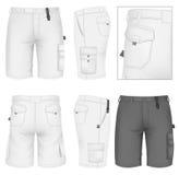 Men's Bermuda shorts design templates Royalty Free Stock Photo
