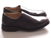 Men's black business shoes Stock Photography