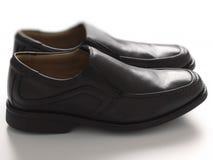Men's black business shoes Stock Photo
