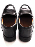 Men's black business shoes Royalty Free Stock Photography