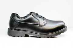 Men's Black Dress Shoe Isolated Royalty Free Stock Photography