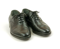 Men's black dress shoes Stock Photo