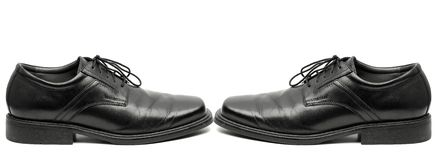 Men's Black Dress Shoes Royalty Free Stock Photo