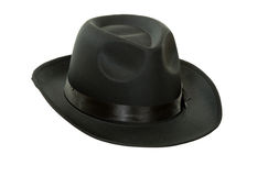 Men's black felt hat Stock Photography