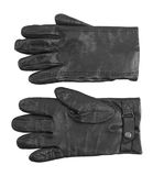 Men's black leather gloves Royalty Free Stock Photography
