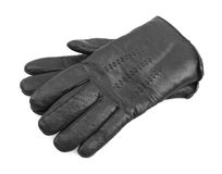 Men's black leather gloves Royalty Free Stock Images