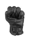 Men's black leather gloves Stock Images