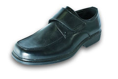 Men's black leather shoes. Royalty Free Stock Photo