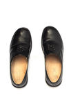 Men's black leather shoes Royalty Free Stock Images