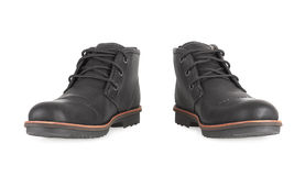 Men's Black Leather Shoes Royalty Free Stock Photography