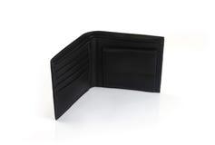 Men's Black Leather Wallet Stock Photos