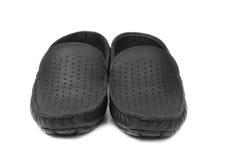 Men's black modern shoe stock photo