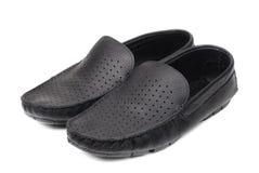 Men's black modern shoe Stock Photos