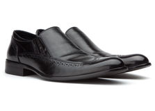 Men's black shoes Royalty Free Stock Image