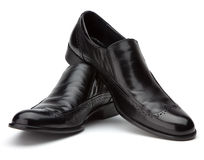 Men's black shoes Stock Photos