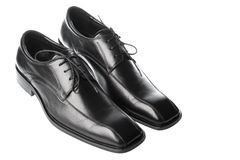 Men's Black Shoes Royalty Free Stock Images