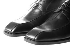 Men's Black Shoes Stock Image