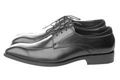 Men's Black Shoes Stock Image