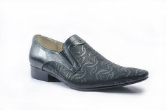 Men's black snakeskin shoes Royalty Free Stock Photography