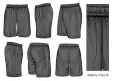 Men's black sport shorts. Stock Image