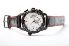 Men's black wristwatch Royalty Free Stock Images