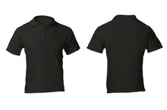Men's Blank Black Polo Shirt Template Royalty Free Stock Photos