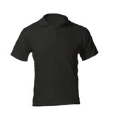 Men's Blank Black Polo Shirt Template. Men's Blank Black Polo Shirt, Front Design Template Royalty Free Stock Images