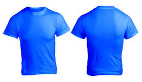 Men's Blank Blue Shirt Template Royalty Free Stock Image