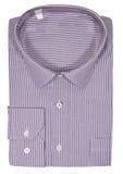 Men's blank folded shirt. Isolated on white Royalty Free Stock Image