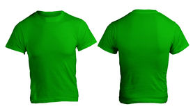 Men's Blank Green Shirt Template Royalty Free Stock Photography