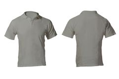 Men's Blank Grey Polo Shirt Template Royalty Free Stock Images