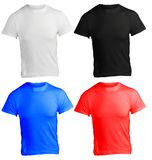 Men's Blank Shirt Template in Many Color. Men's Blank Shirt, Front and Back Design Template in Many Color Royalty Free Stock Photos