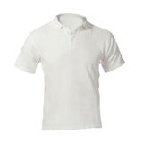 Men's Blank White Polo Shirt Template. Men's Blank White Polo Shirt, Front Design Template Royalty Free Stock Photography