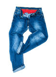 Men's blue jeans dancing Royalty Free Stock Images